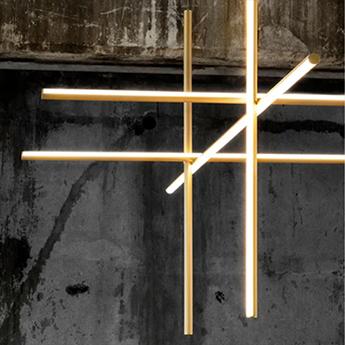 Suspension coordinates suspension 4 champagne led 2700k 8830lm o176 2cm h92 2cm flos normal