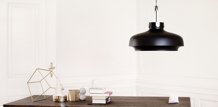 Suspension copenhagen pendant sc8 noir mat o60cm h53cm andtradition normal