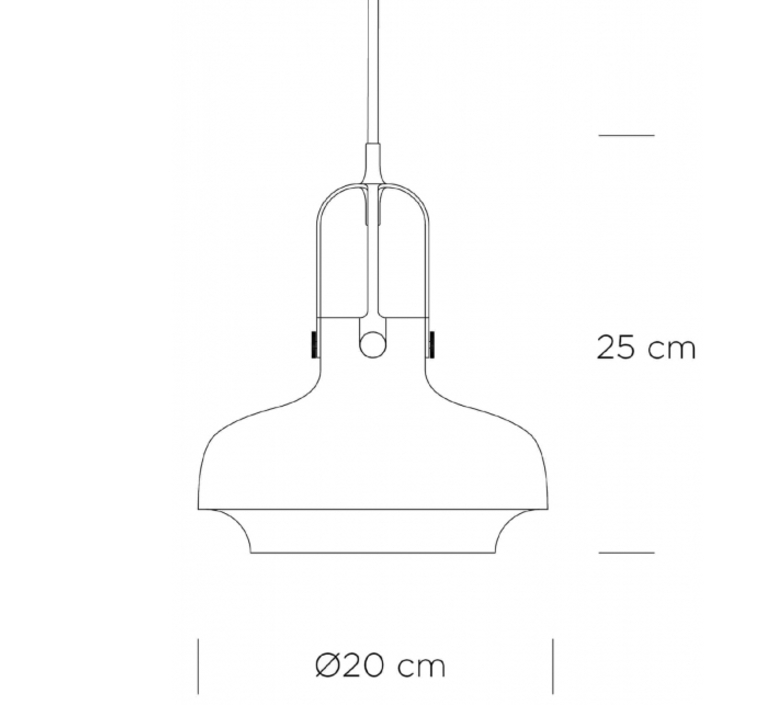 Copenhagen sc6  suspension pendant light  andtradition 20951149  design signed 36591 product