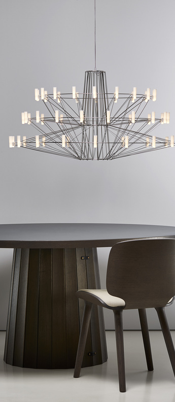 Suspension coppelia small 4m noir et blanc led 2700k 400lm o68cm h42 5cm moooi normal