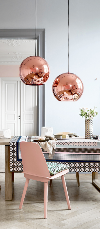 Suspension copper round cuivre o40cm tom dixon normal