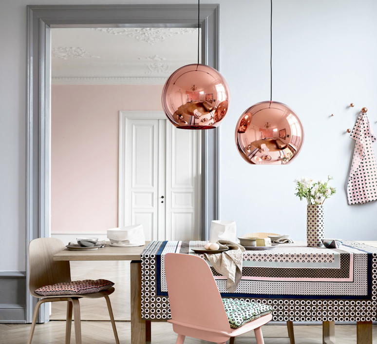 Copper round tom dixon suspension pendant light  tom dixon mss01reu   design signed 34132 product