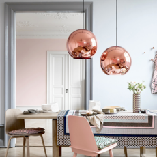Copper round tom dixon suspension pendant light  tom dixon mss01reu   design signed 34132 thumb