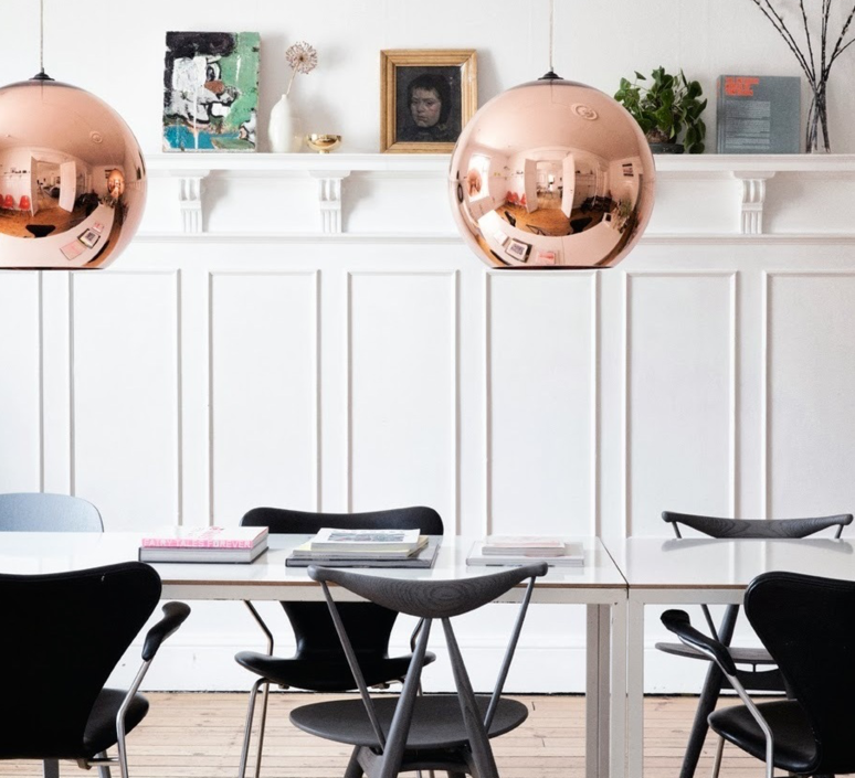 Copper round tom dixon suspension pendant light  tom dixon mss01reu   design signed 34134 product
