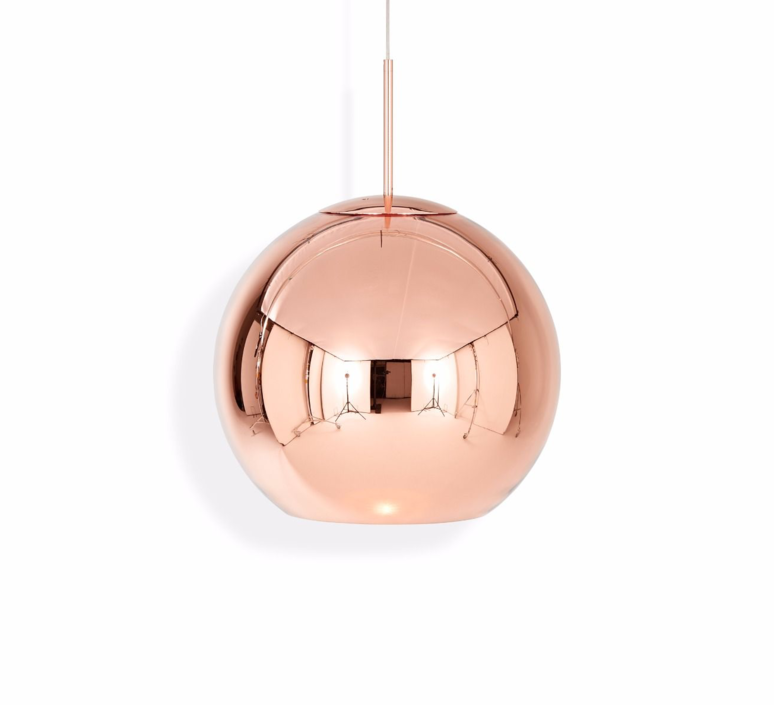 Copper round tom dixon suspension pendant light  tom dixon mss01reu   design signed 34137 product