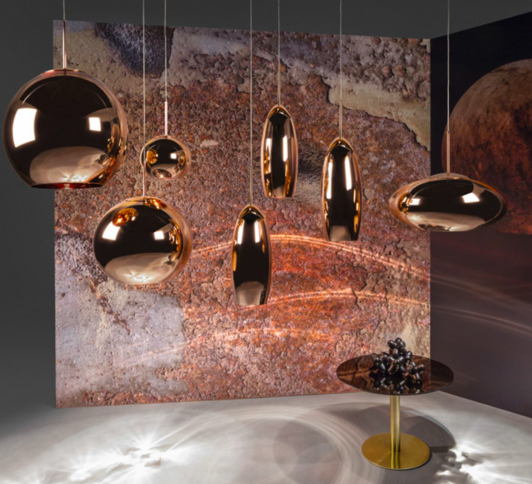Copper round tom dixon suspension pendant light  tom dixon mss01reu   design signed 34138 product