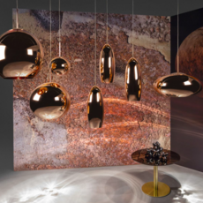 Copper round tom dixon suspension pendant light  tom dixon mss01reu   design signed 34138 thumb