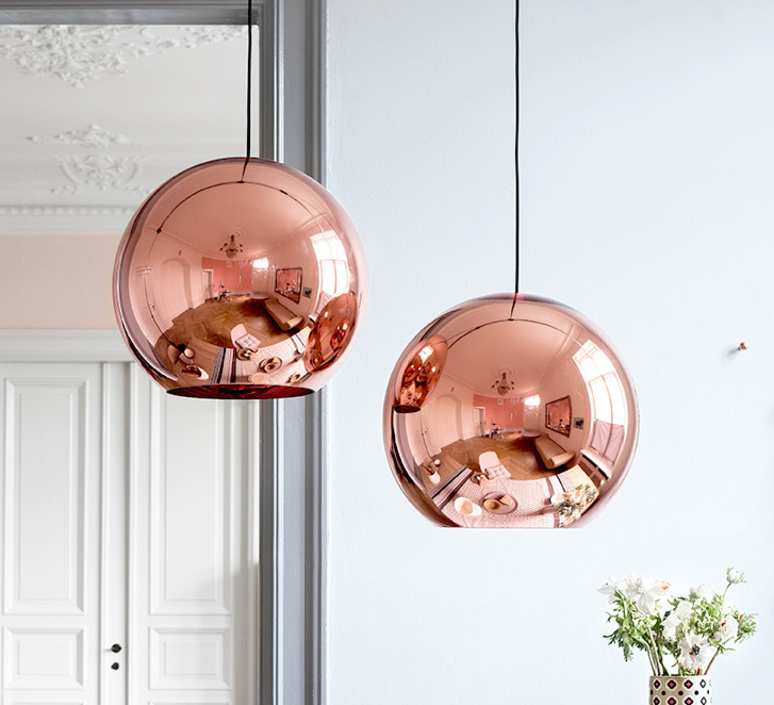 Copper round tom dixon suspension pendant light  tom dixon mss01reu   design signed 34140 product
