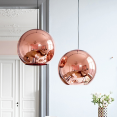 Copper round tom dixon suspension pendant light  tom dixon mss01reu   design signed 34140 thumb