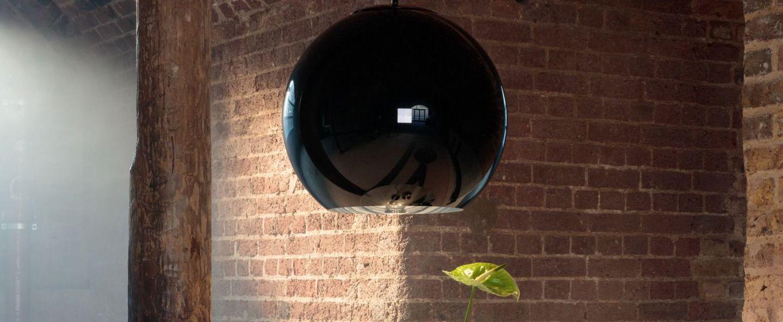 Suspension copper round noir o45cm h40cm tom dixon normal