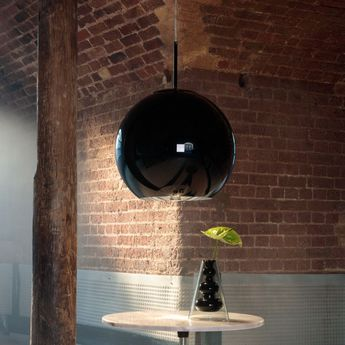 Suspension copper round noir o45cm h40cm tom dixon normal