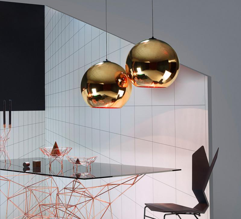 Copper round tom dixon suspension pendant light  tom dixon mss4501 peum3   design signed 34142 product