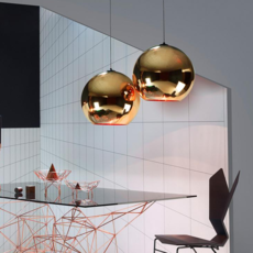 Copper round tom dixon suspension pendant light  tom dixon mss4501 peum3   design signed 34142 thumb