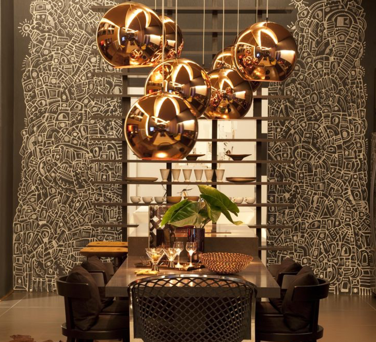 Copper round tom dixon suspension pendant light  tom dixon mss4501 peum3   design signed 34144 product