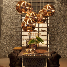 Copper round tom dixon suspension pendant light  tom dixon mss4501 peum3   design signed 34144 thumb