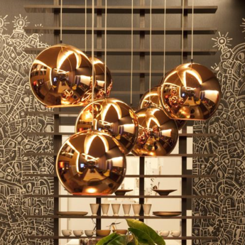 Suspension copper round or o40cm tom dixon normal