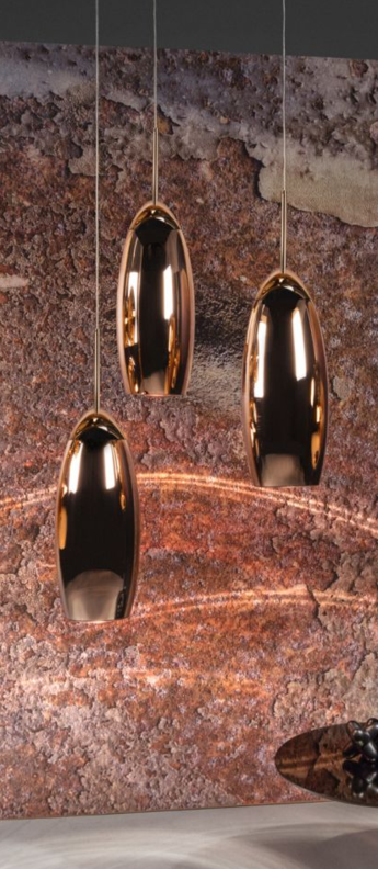 Suspension copper tall cuivre o20cm h50cm tom dixon normal