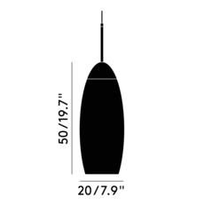 Copper tall tom dixon suspension pendant light  tom dixon mss01teu   design signed 36873 thumb