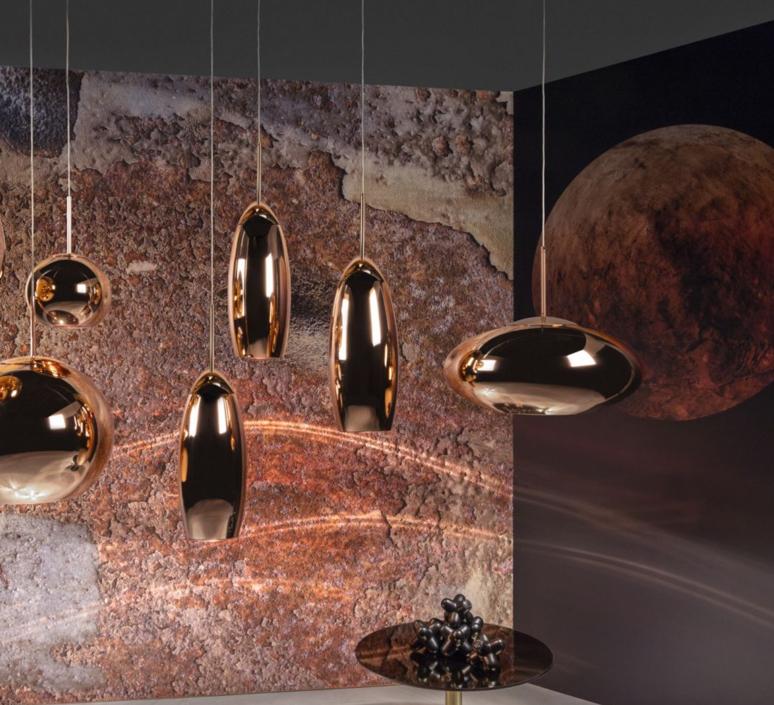Copper tall tom dixon suspension pendant light  tom dixon mss01teu   design signed 36874 product