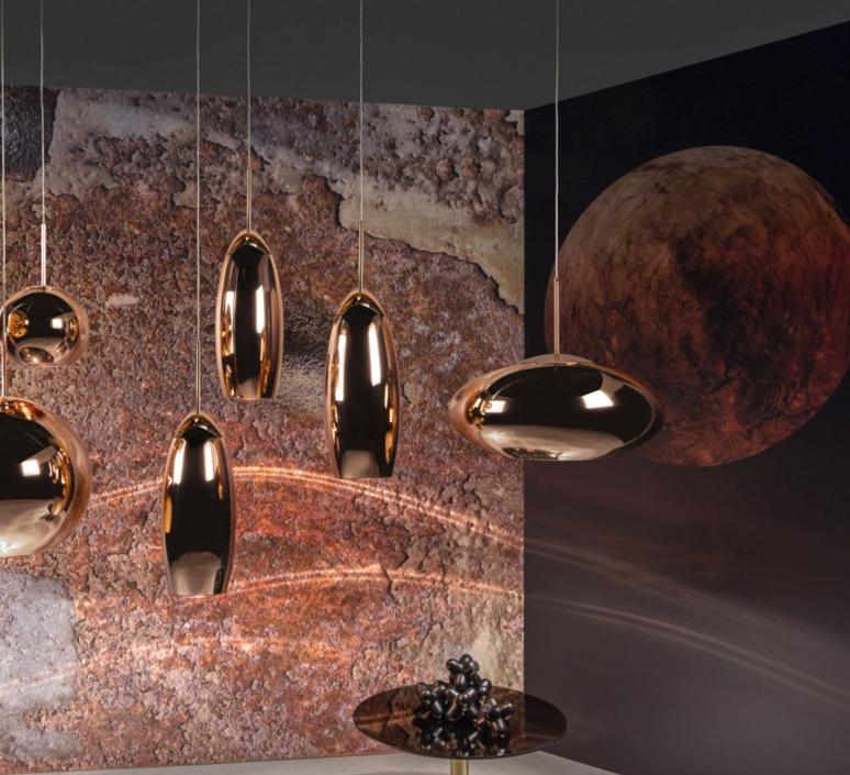 Copper wide tom dixon suspension pendant light  tom dixon mss01weu  design signed 36870 product