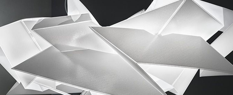 Suspension cordoba blanc led 2900k 1500lm l104cm h55cm slamp normal