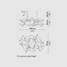 Cordoba studio slamp suspension pendant light  slamp crd95sos0000w 000  design signed nedgis 78318 thumb