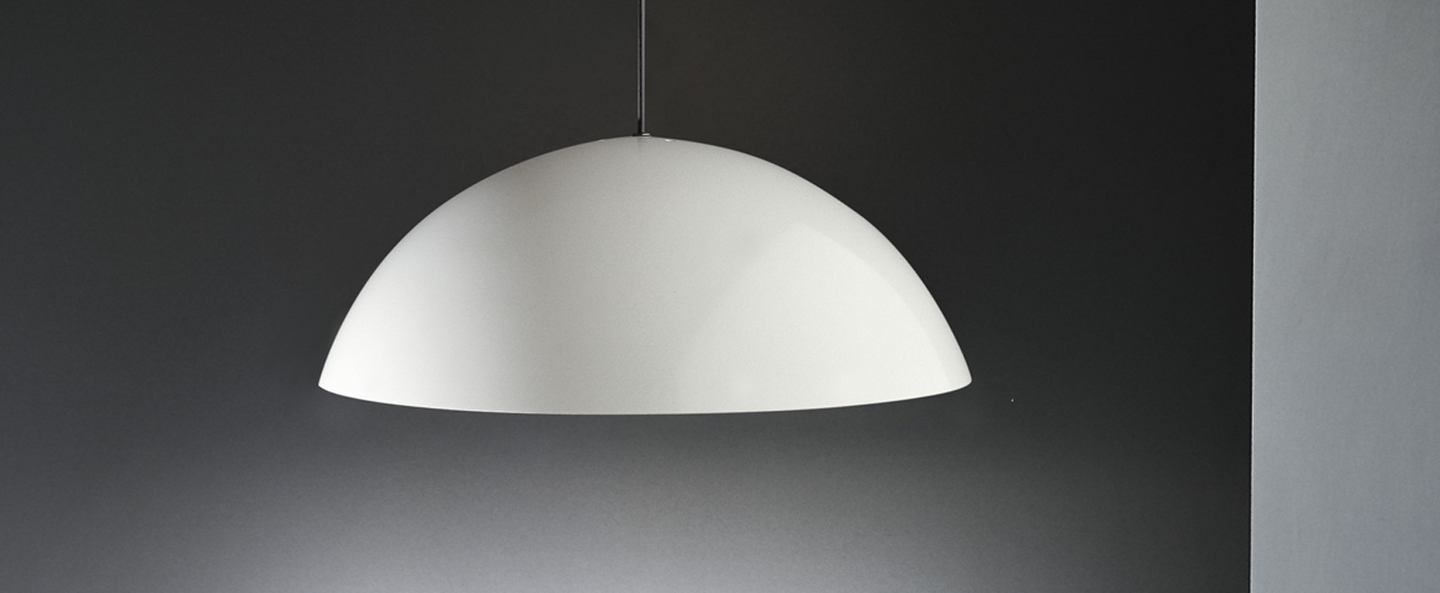 Suspension coupe blanc o40cm martinelli luce normal