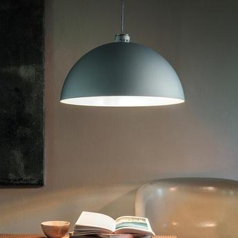 Suspension coupole aluminium o45cm h24cm nemo lighting normal