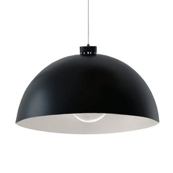 Suspension coupole noir et blanc o45cm h24cm nemo lighting normal