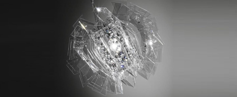 Suspension crazy diamond transparent o57cm slamp normal