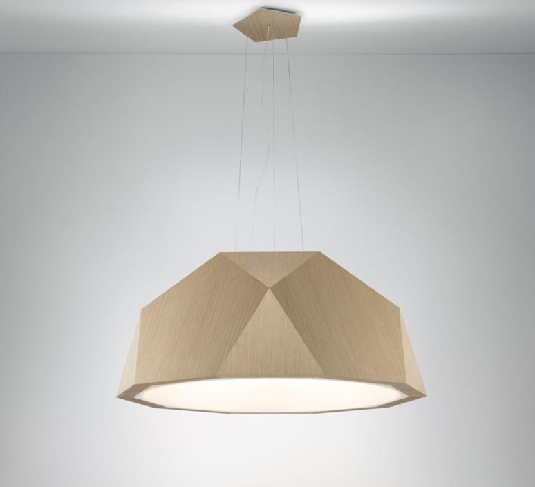pendant light crio d81 brown light wood Ø115cm h49cm fabbian