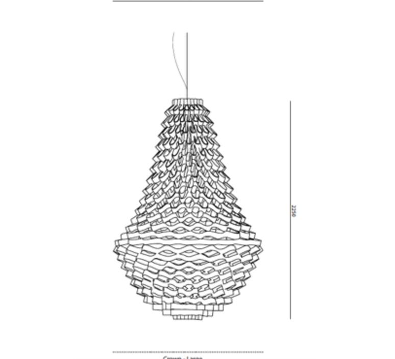 Crown large grietje schepers suspension pendant light  jspr jspr crown large silver  design signed nedgis 67485 product
