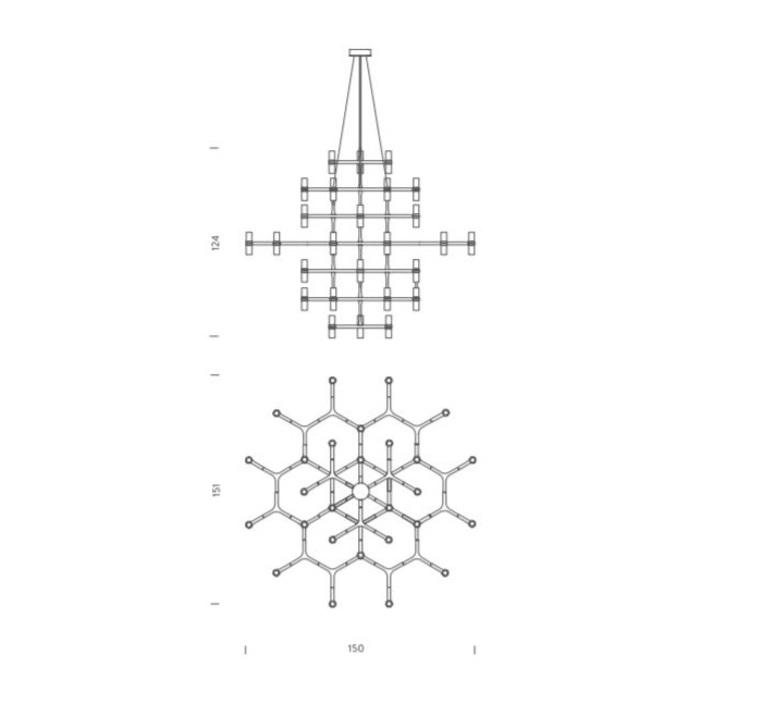 Crown magnum jehs laub suspension pendant light  nemo lighting cro hlw 5a  design signed 58574 product