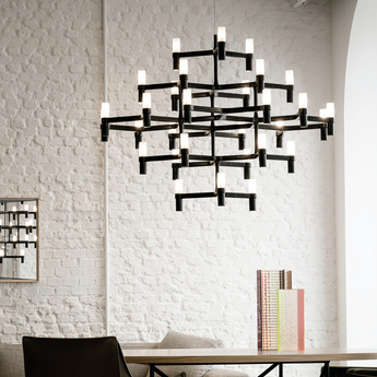 Suspension crown major noir l109cm h87cm nemo lighting normal