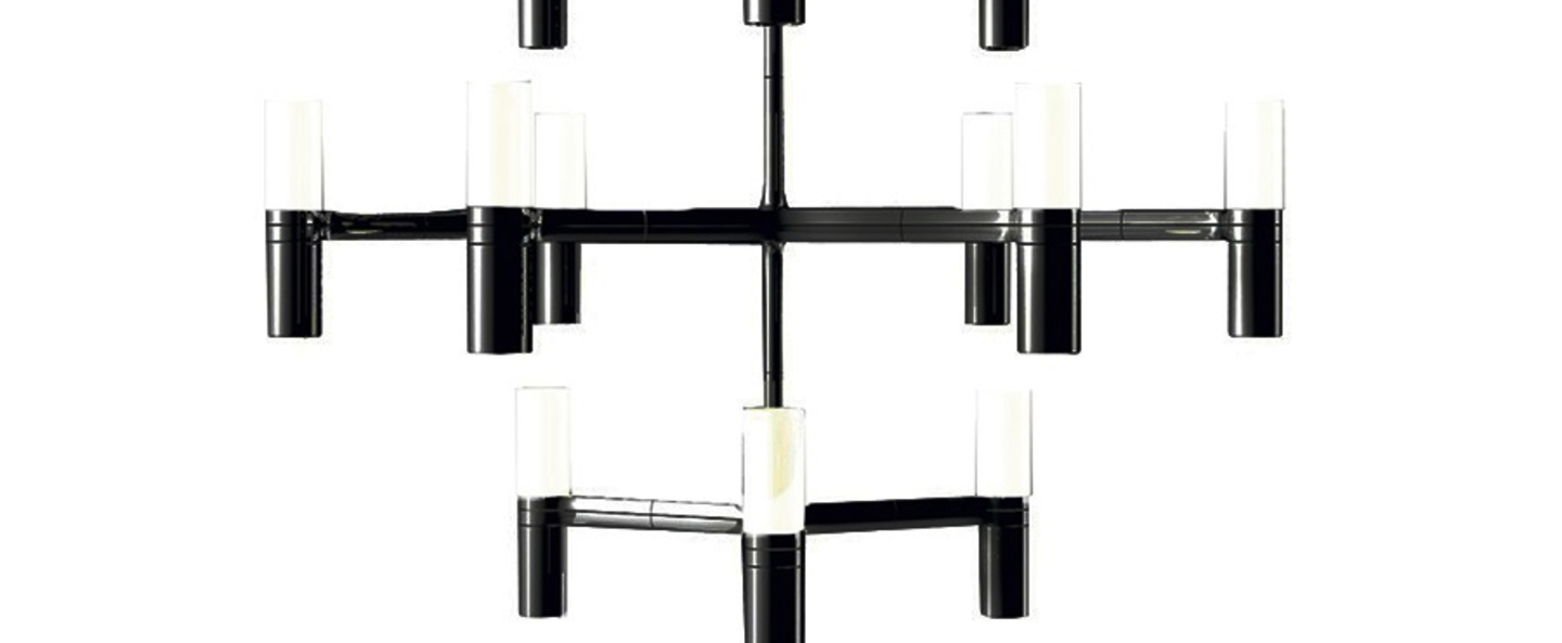 Suspension crown minor noir l77cm h50cm nemo lighting normal