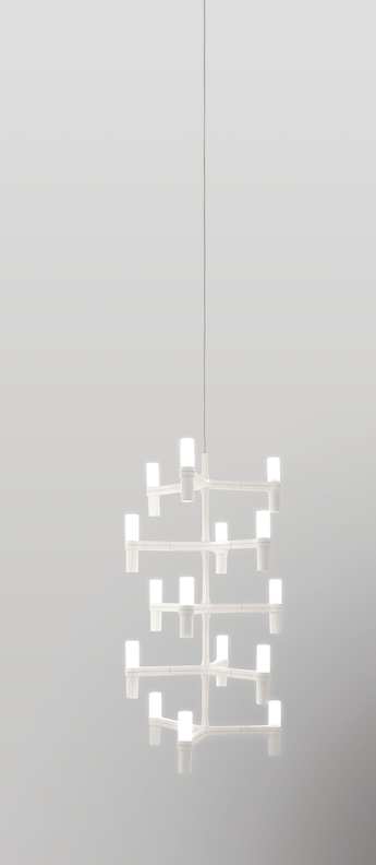 Suspension crown multi blanc l41cm h87cm nemo lighting normal