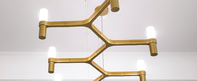 Suspension crown plana linea or l168cm h16cm nemo lighting normal