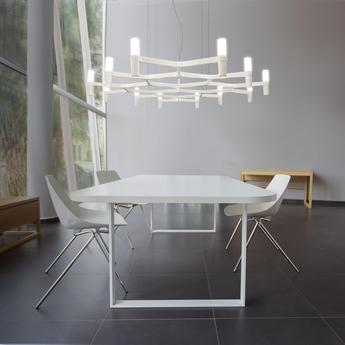 Suspension crown plana mega acier poli l172cm h16cm nemo lighting normal