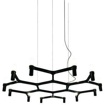 Suspension crown plana minor noir l109cm h16cm nemo lighting normal