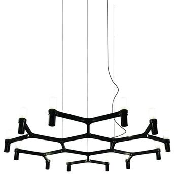 Suspension crown plana minor noir l109cm h16cm nemo lighting normal