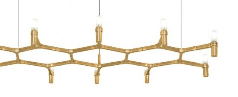 Suspension crown plana plaque or l150cm h16cm nemo lighting normal