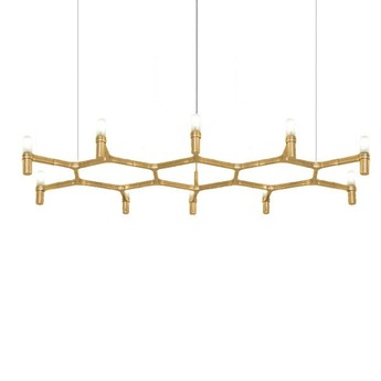 Suspension crown plana plaque or l150cm h16cm nemo lighting normal