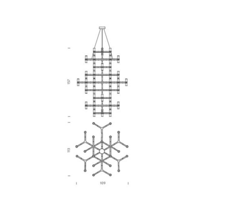 Crown summa jehs laub suspension pendant light  nemo lighting cro hlw 59  design signed 58692 product