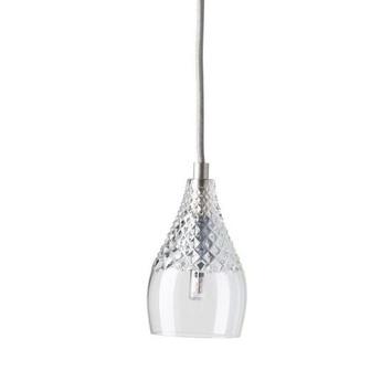 Suspension crystal henley transparent argente h13cm ebb and flow normal