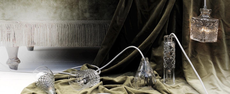 Suspension crystal tansparent argent h13cm ebb and flow normal