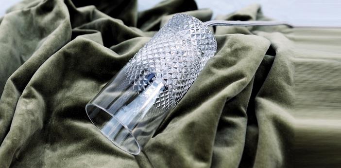 Suspension crystal tansparent argent h15cm ebb and flow normal