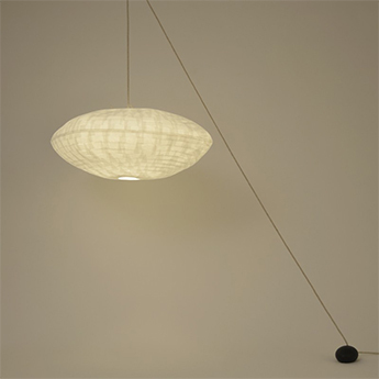 Suspension cumulus poulie suspension blanc l80cm celine wright normal