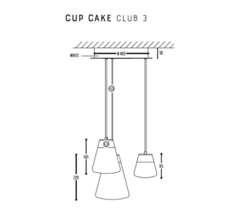 Cup cake club 3 susanne uerlings suspension pendant light  dark 1070 110 804002 01  design signed nedgis 68146 product