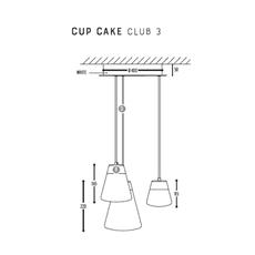 Cup cake club 3 susanne uerlings suspension pendant light  dark 1070 110 804002 01  design signed nedgis 68146 thumb