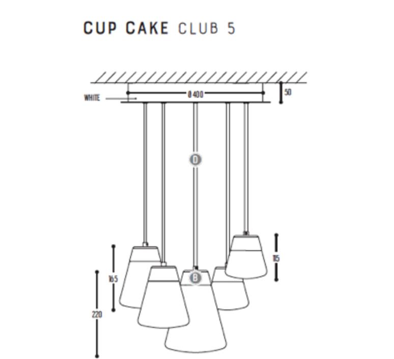 Cup cake club 5 susanne uerlings suspension pendant light  dark 1071 02 804002 01  design signed nedgis 68150 product